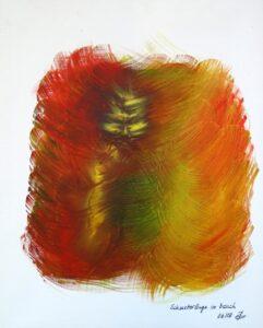 Schmetterlinge im Bauch, Öl, Leinwand, 40x50; 2018