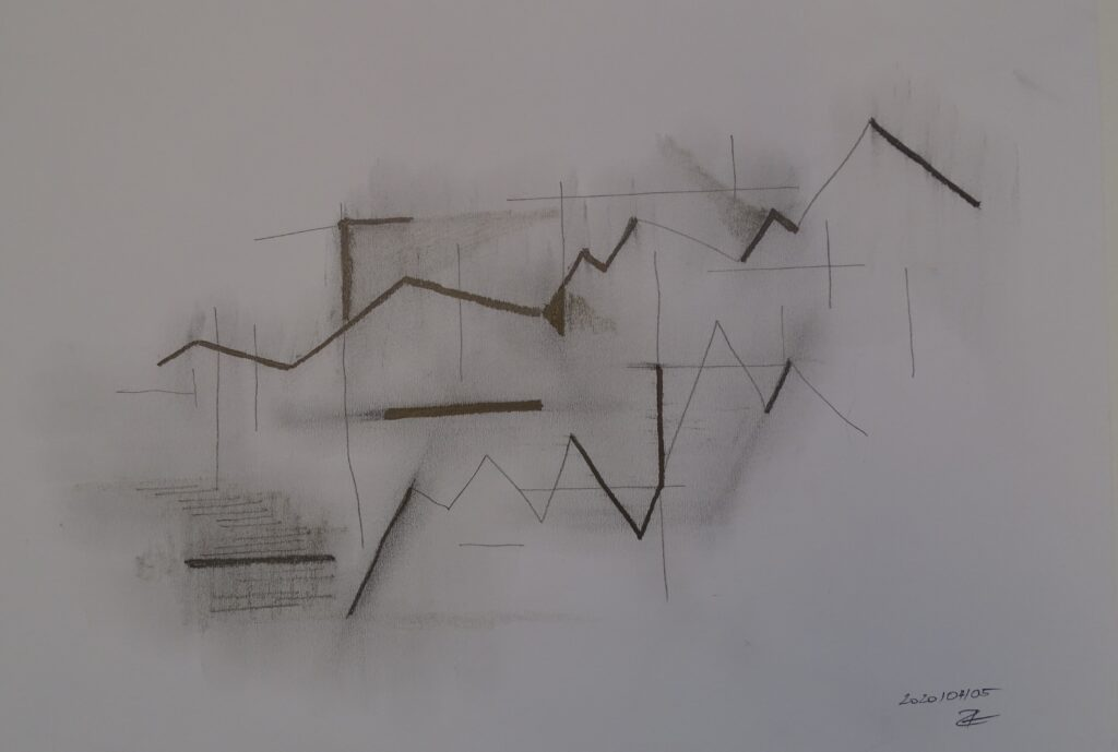 ohne Titel, Bleistift, Papier, 40x30; 2020