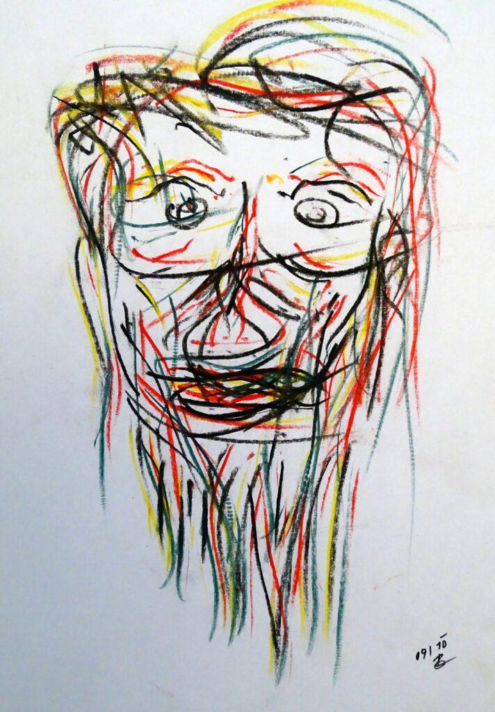 09-10; Ölkreide, Papier, 21x30 cm, 2010