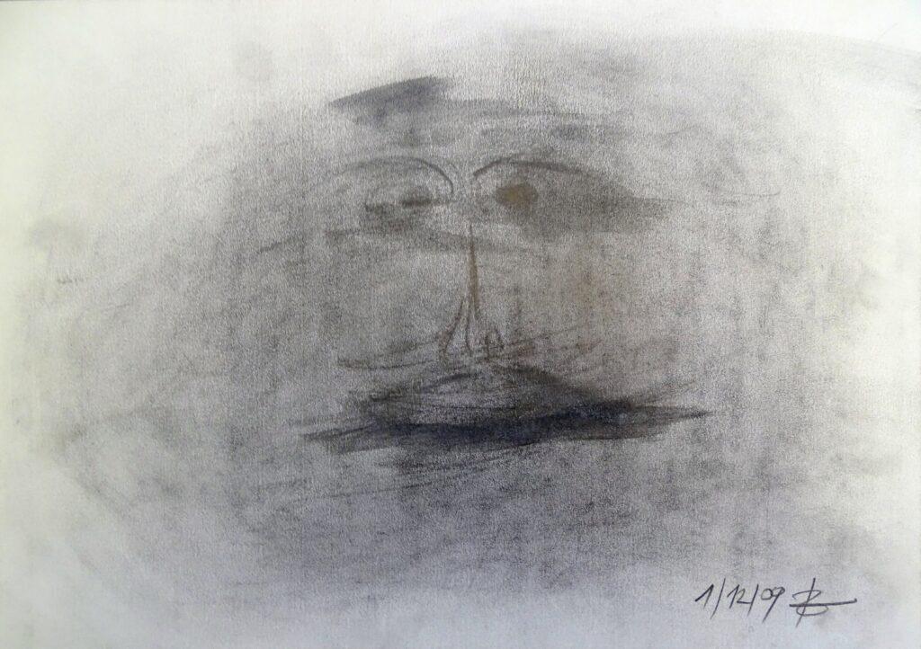 1-12-09, Bleistift, Papier, 42x30 cm, 2009