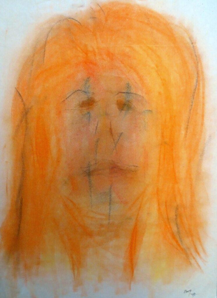 2009-100, Kreide, Papier, 42x56 cm, 2009