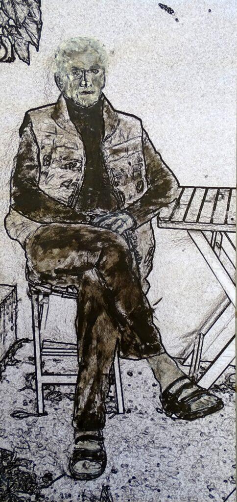 EDI, Druck, ÖL, Papier, 30x67 cm, 2017