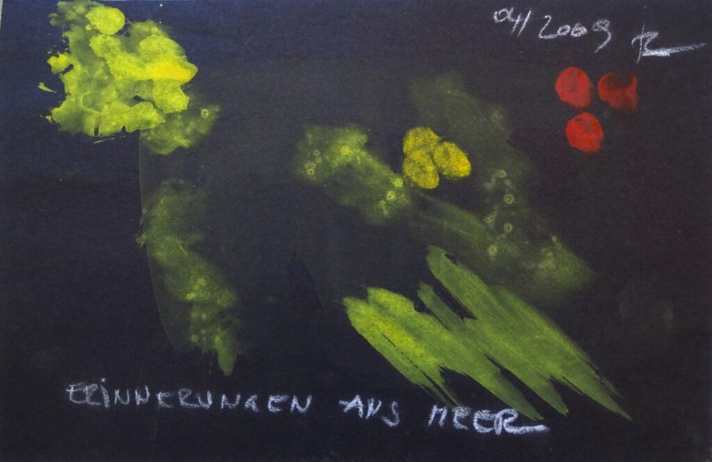 Erinnerungen ans Meer, Acryl, Karton, 30x20, 2009