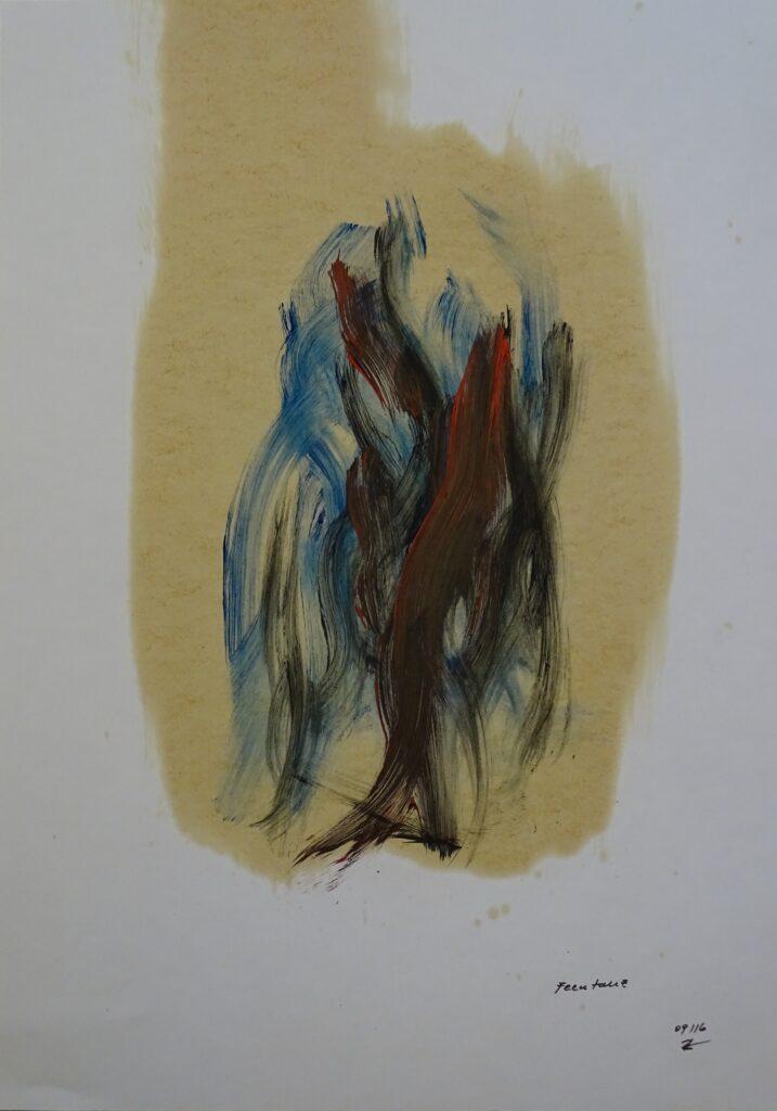 Feentanz, Acryl, Karton, 40x60 cm, 2016