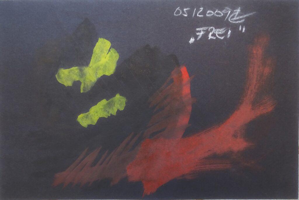 Frei, Acryl, Karton, 30x20 cx, 2009