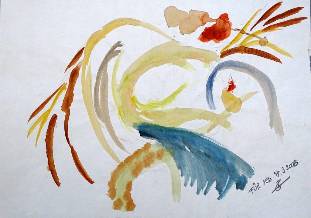 Für den 17-03-2008, Aquarell, Papier, 29x42 cm, 2008