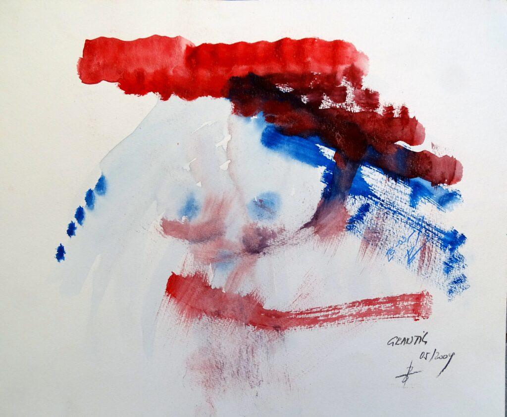 Grantig, Acryl, Karton,42x30 cm, 2009