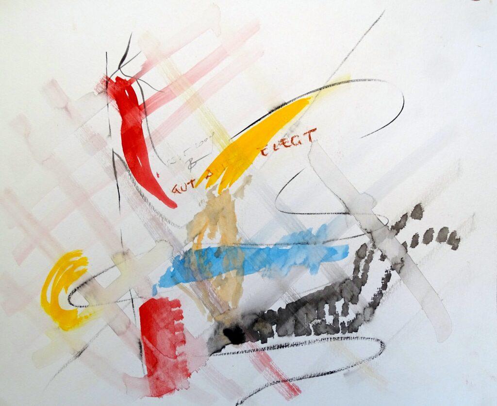 Gut Aufgelegt, Acryl, Karton, 42x30 cm, 2009