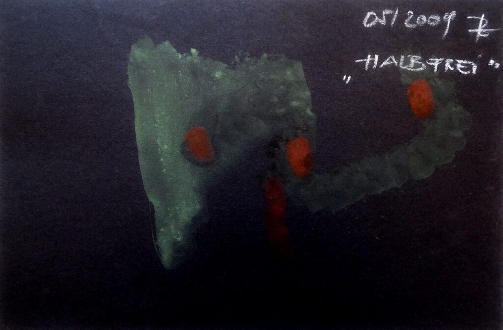 Halbfrei, Acryl, Karton, 30x20 cm, 2009