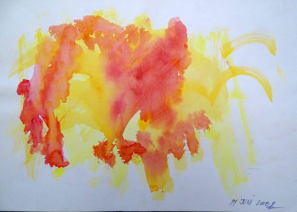 Im Juni, Aquarell, Papier, 29x42 cm, 2008