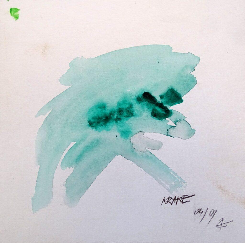Krake, Acryl, Karton, 25x25 cm, 2009