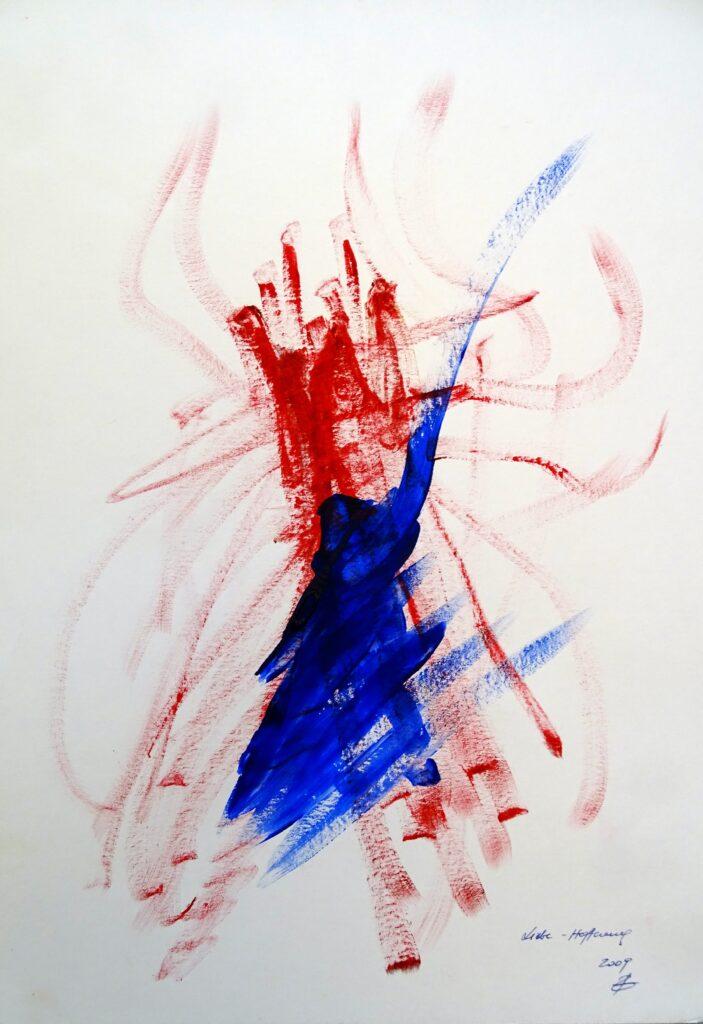 Liebe-Hoffnung, Acryl, Karton, 30x42 cm, 2009