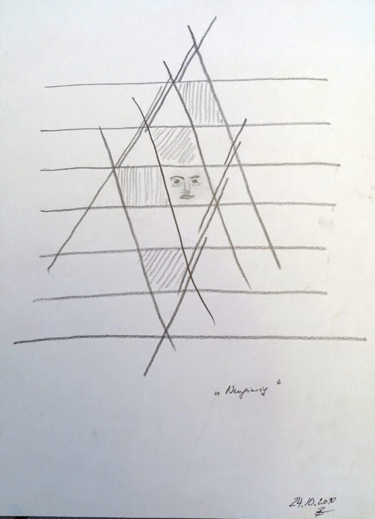 Neugierig, Bleistift, Papier, 25x35 cm, 2010