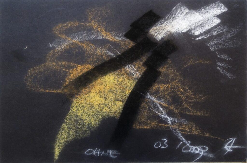Ohne, Kreide, Karton, 30x20 cm, 2009