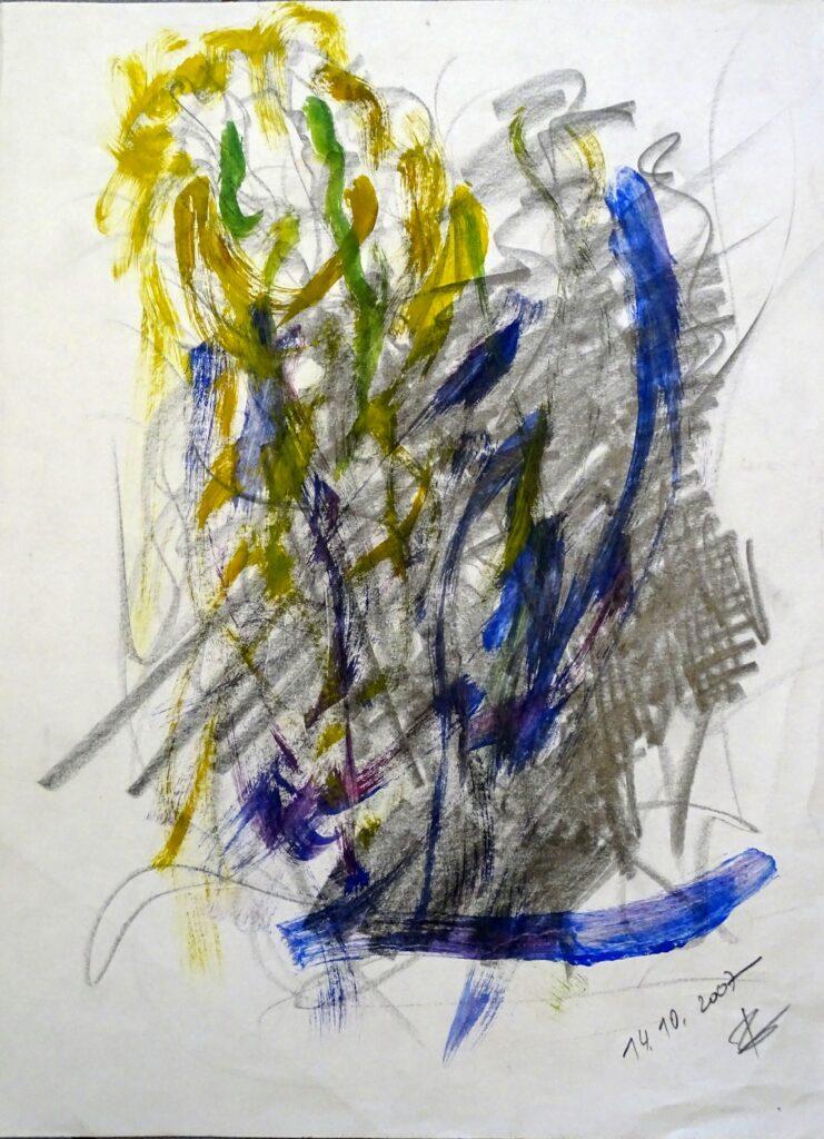 Ohne Titel, Acryl, Bleistift, Papier, 35x46cm, 2007