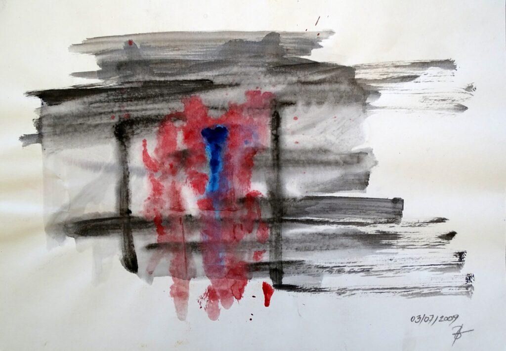 Ohne Titel, Acryl, Karton, 42x30 cm, 2009