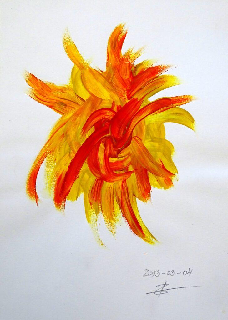 Ohne Titel, Acryl, Papier, 21x30 cm, 2013