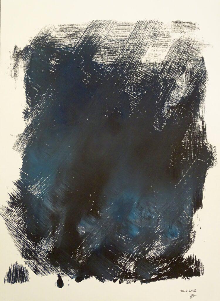Ohne Titel, Acryl, Papier, 30x40 cm, 2016