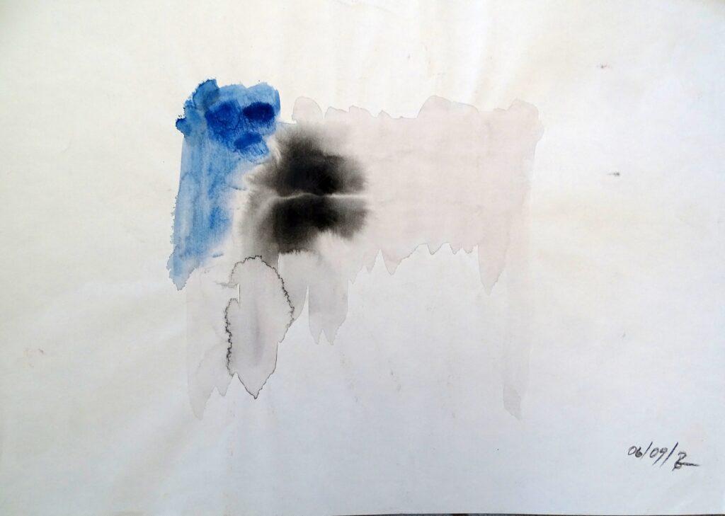 Ohne Titel, Acryl, Papier, 42x30 cm, 2009
