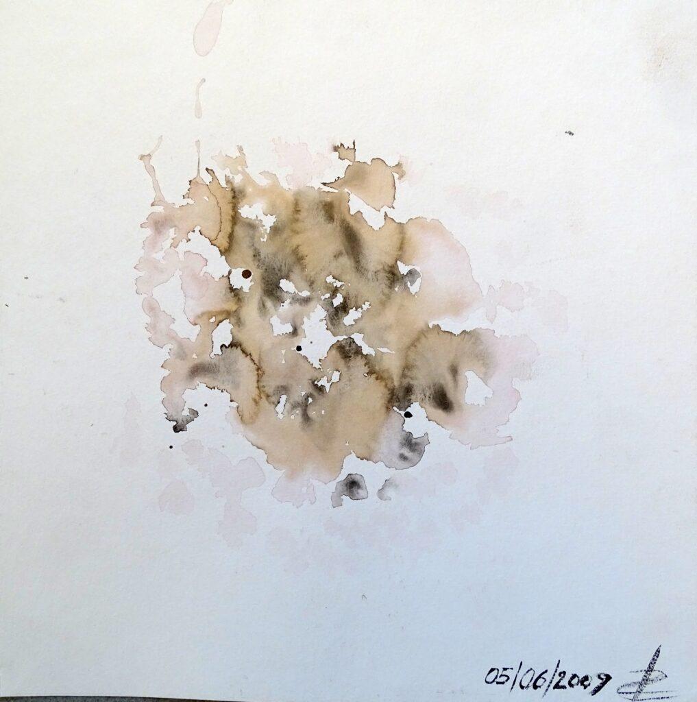 Ohne Titel, Aquarell, Karton, 42x30 cm, 2009