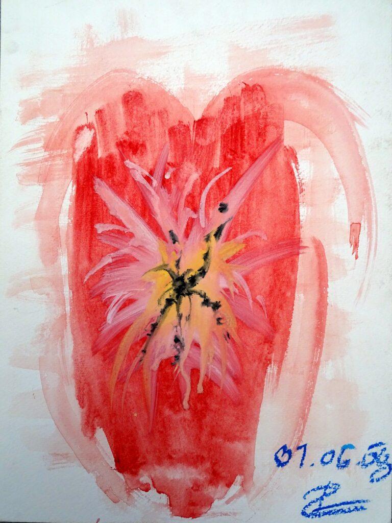 Ohne Titel, Aquarell, Papier, 21x30 cm, 2008