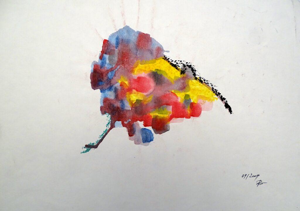Ohne Titel, Aquarell, Papier, 42x29 cm, 2009