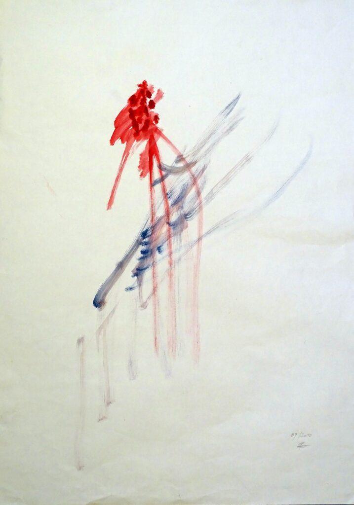 Ohne Titel, Aqaurell, Papier, 58x83 cm, 2010