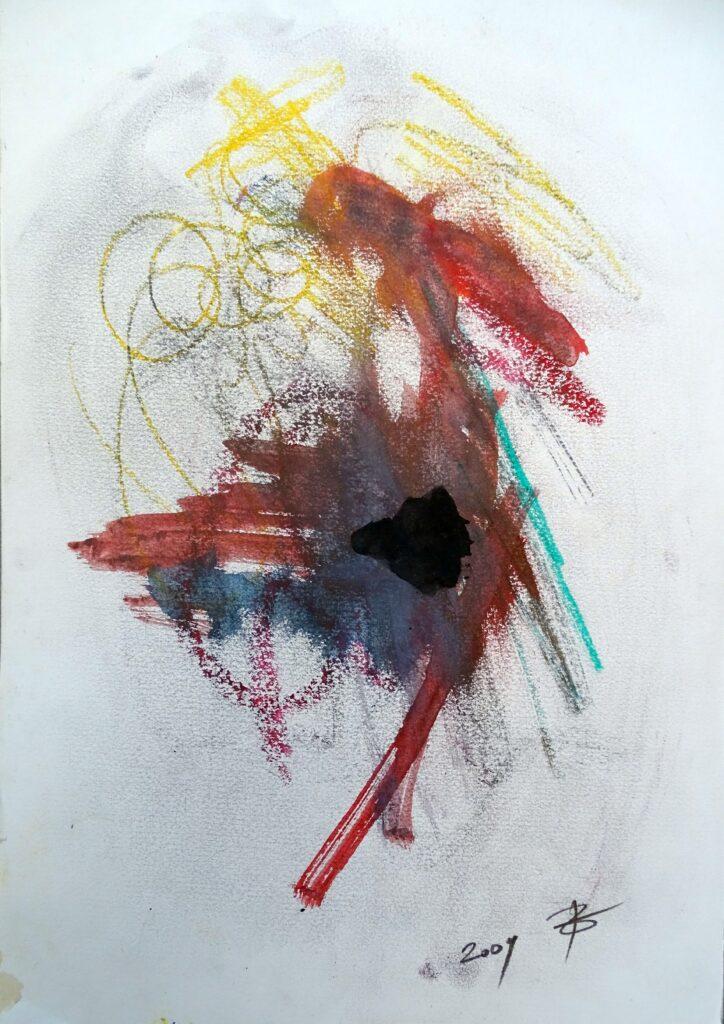 Ohne Titel, Mischtechnik, Karton, 42x30 cm, 2009