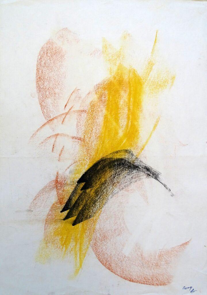 Ohne Titel, Kreide, Papier, 30x42 cm, 2009