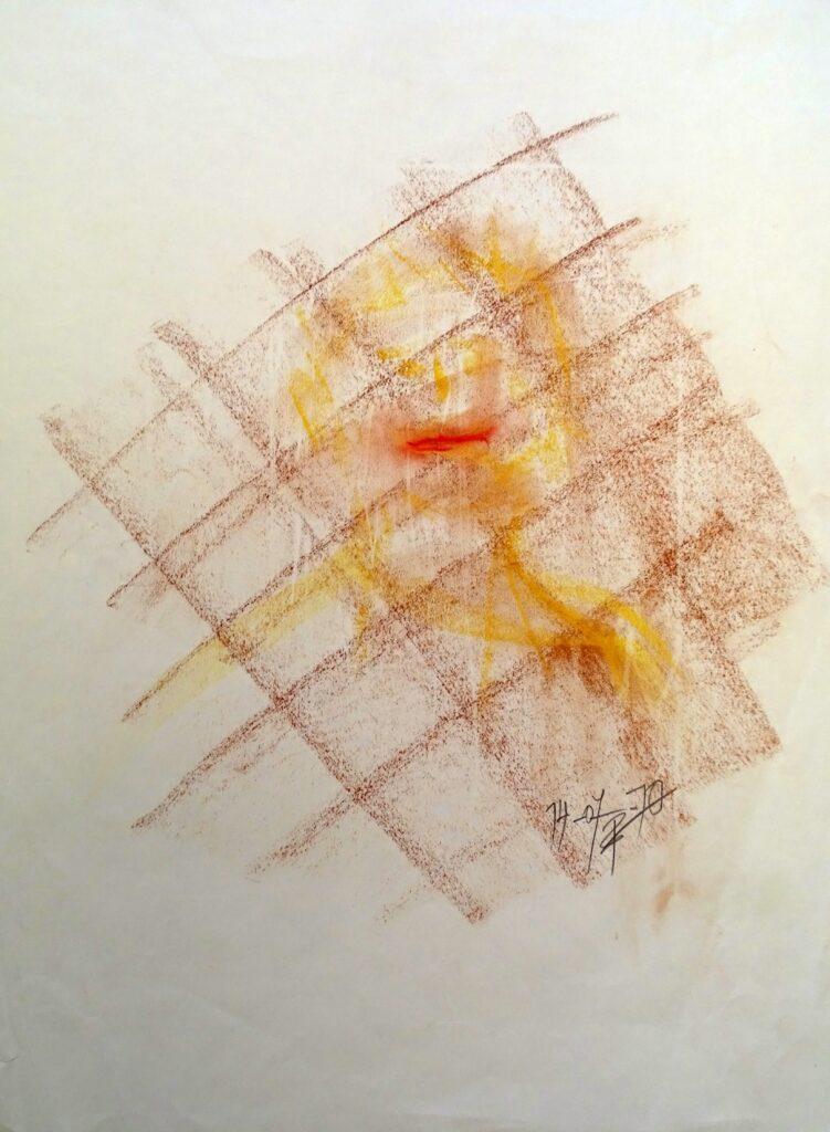 Ohne Titel - 2, Kreide, Farbstift, Papier, 42x56 cm, 2010