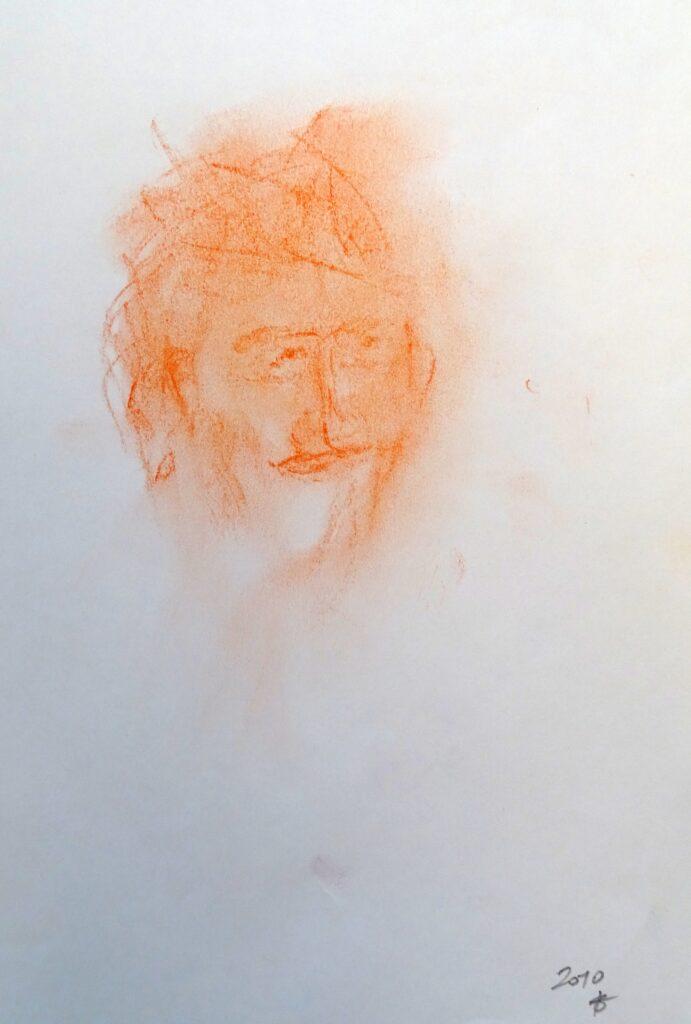 Ohne Titel - 3, Farbstift, Papier, 16x25 cm, 2010