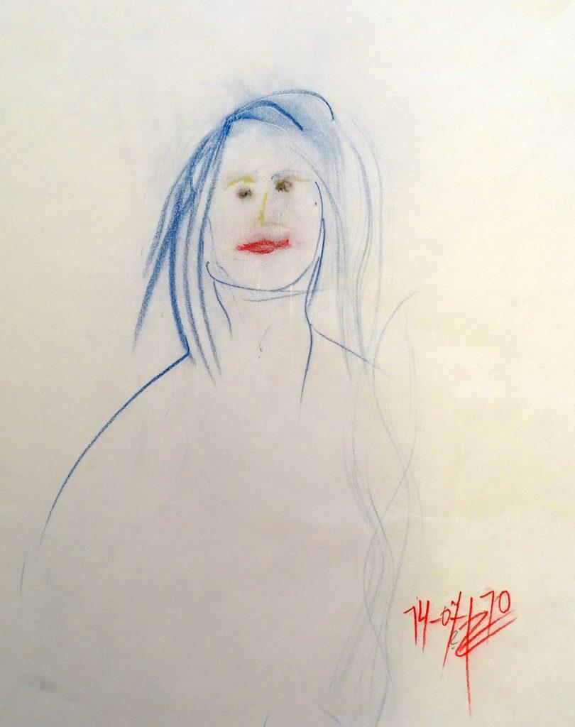 Ohne Titel-4, Farbstift, Papier, 42x56 cm, 2010