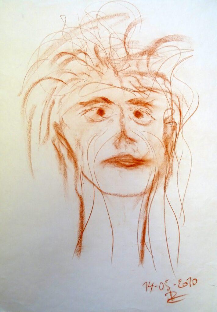 Ohne Titel-5, Kreide, Papier, 60x83 cm,2010