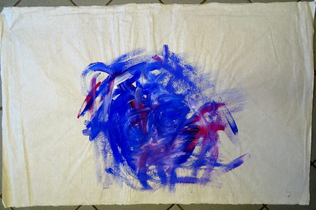 Ohne Titel, Acryl, Büttenpapier,63x97 cm, 2010