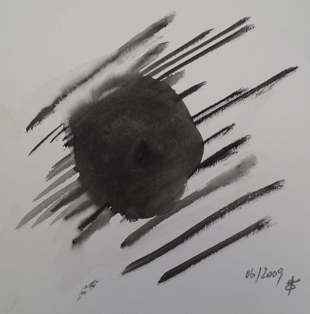 Ohne Titel, Aquarell, Papier, 25x25 cm, 2009