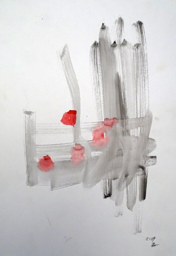 Ohne Titel, Aquarell, Papier, 29x42 cm, 2009