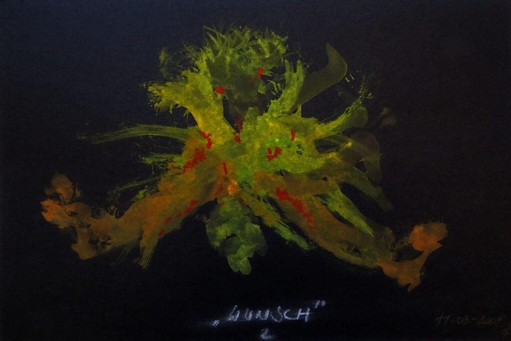 Wunsch, Acryl, Karton, 30x20 cm, 2009
