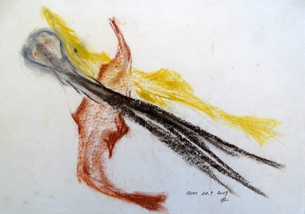 Zum, Kreide, Papier, 42x30 cm, 2009